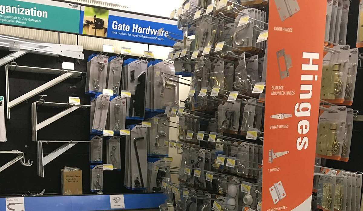 Hinges and Gate hardware available at Moses Building Center