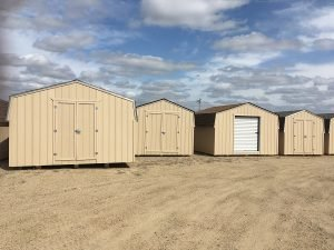 Sheds for sale at Moses Building Center