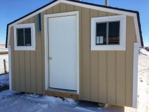 Exterior of small shed for sale at Moses Building Center