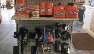 Fast Orange and Clamps end cap at Moses Building Center