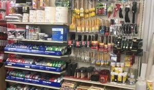 Paint brushes, rollers, and accessories available at Moses Building Center