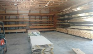 Building Materials in the Moses Building Center Warehouse