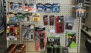 All sizes of batteries available at Moses Building Center