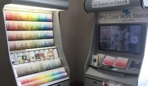 PPG Color Work Station kiosk at Moses Building Center