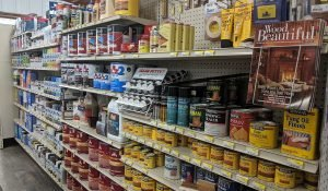 Paint, stain, and tools available at Moses Building Center