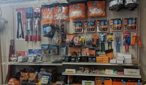 Fencing materials and tools at Moses Building Center